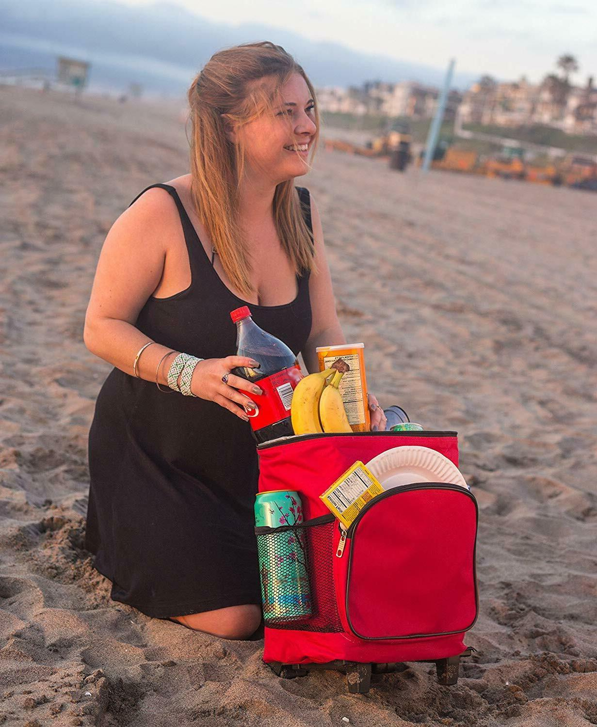 Rolling Cooler Insulated Drinks and Summer