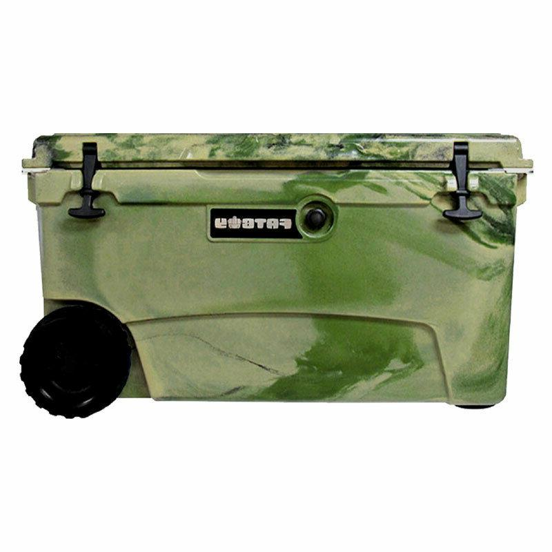 Fatboy 70QT Rotomolded Wheeled Chest Ice Box Cooler Army Cam