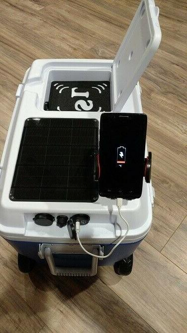 SOLAR LIFE HURRICANE SURVIVAL COOLER Wheeled iPhone Android