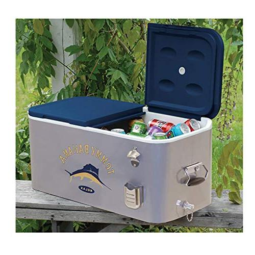 RIO The Entertainer 77 Steel Rolling Portable Party Cooler