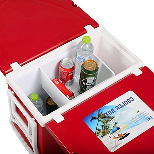 Ultra Compact Function Insulated Outdoor Cooler with & Chairs Ideal Picnic