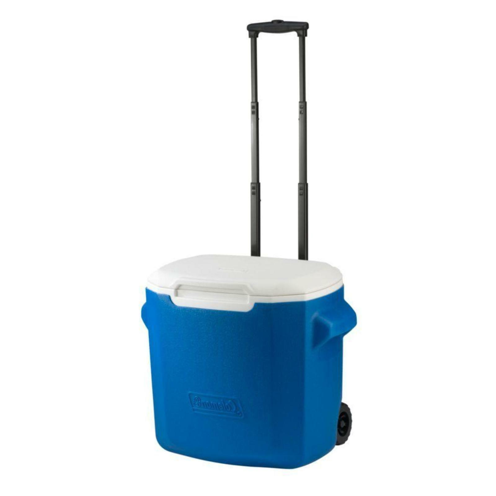 Wheeled Cooler Blue 16 Qt.Camping Ice Box Travel Outdoor Hik