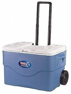 Coleman Wheeled Cooler Portable 75-Quart Outdoor Party Campi