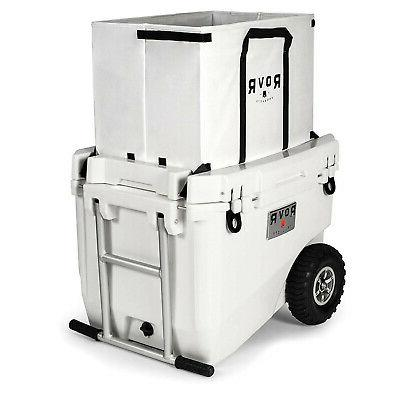 RovR Wheeled Heavy-Duty White Rolling with