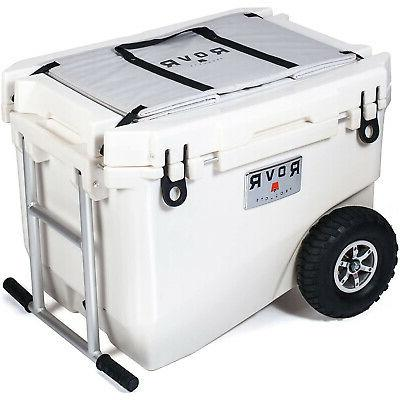 wheeled rugged heavy duty white camping rolling