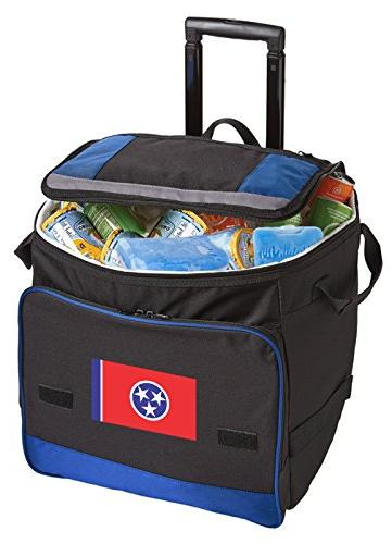 wheeled tennessee cooler flag