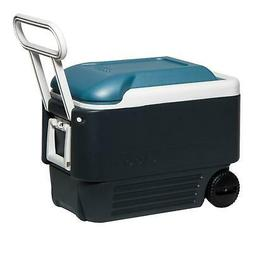 Igloo Maxcold 40 Roller Cooler Wheeled Jet Carbon / Ice Blue