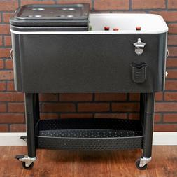 Mobile Party Cooler Outdoor Rolling Patio Tailgating Portabl