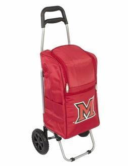 NCAA Miami Ohio Redhawks Insulated Cart Cooler with Wheeled