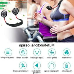 NEW Portable USB Rechargeable Fan Air Cooler Dual Head Neck