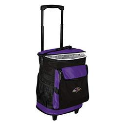 Logo Brands Baltimore Ravens 48-Can Rolling Cooler with Whee