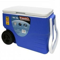 Performance Wheeled Cooler 40Qt Holds 59 Cans Rolling Design