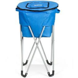 Portable Insulated Tub Party Picnic Cooler with Folding Stan