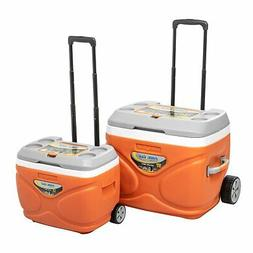 Prudence Portable Ice Coolers on Wheels Camping Outdoor Picn