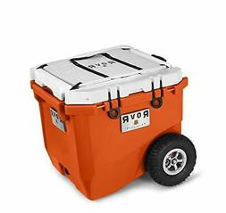 RovR Wheeled Camping Rolling Cooler with Wheels 45 qt (Deser
