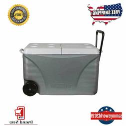 Rubbermaid 75-Quart Wheeled Plastic Chest Cooler Extra Thick