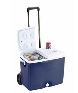 RUBBERMAID  PORTABLE 45 QT. BLUE WHEELED COOLER ICE CHEST