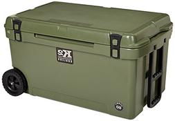K2 Coolers Summit 60 Cooler with Wheels, Duck Boat Green