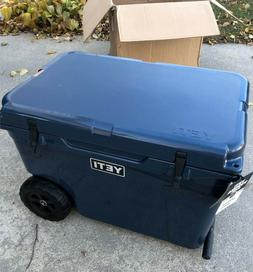 tundra haul wheeled cooler navy new in