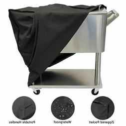 Waterproof Cooler Cart Cover for 80 QT Patio Rolling Ice Che