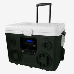 Weather Resistant Gray Plastic 40 Qt. Wheeled Chest Cooler w