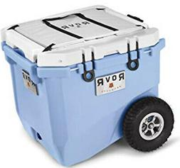 RovR Wheeled Camping Rolling Cooler with Wheels 45 qt