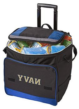 Broad Bay Wheeled Naval Academy Cooler USNA Navy Rolling Coo