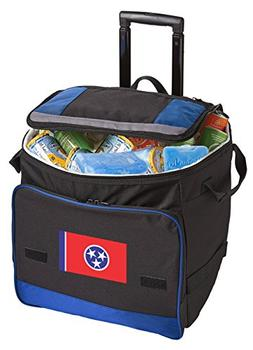 Broad Bay Wheeled Tennessee Cooler Tennessee Flag Rolling Co