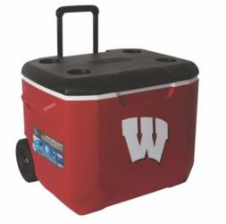 Wisconsin Badgers Coleman 60 Quart Wheeled Tailgate Cooler -