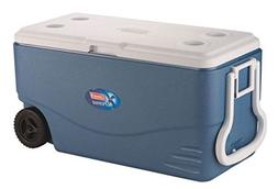 Coleman Xtreme 5 - 100 Quart Wheeled Cooler, Blue, Holds 160